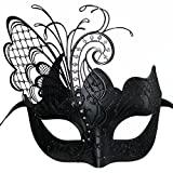 black flying butterfly venetian women mask for masquerade/party