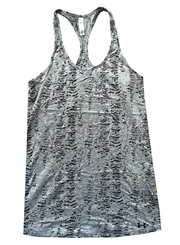 Under Armour Women UA Charged Cotton® Tri-Blend - Printed Tank Top (XS, Black)