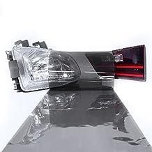 LinkedGo 12 by 72 inches Self Adhesive Light Black Headlights or Fog Taillight Tint Vinyl Film (1272inch, Light Black)