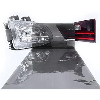 LinkedGo Light Black Adhesive Headlight Tint for Foglight Tail Self Wrap (12
