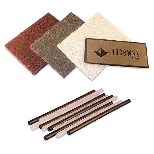 [해외]RaceWax (경주 왁 스) 기반 스키 리페어 키트: 10 P-Tex + 금속 스 크레이 퍼 + 완충 패드 3 개 (병행 수입) / Racewax (lace wax) Base Ski repair Kit: 10 P-tex + metal scraper + 3 buffer Pads (parallel import)