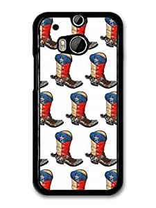 Texas Flag Boot Pattern Illustration case for HTC One by ruishername