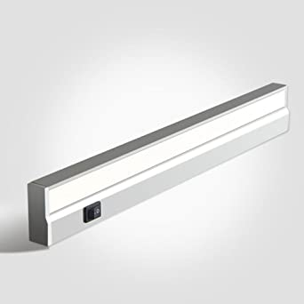 BiuTeFang Lámpara de mesa LED ultradelgada estanca de cocina consola armario armario luces interruptor enchufe armario de luces blanco 42.4cm 6W: Amazon.es: Iluminación