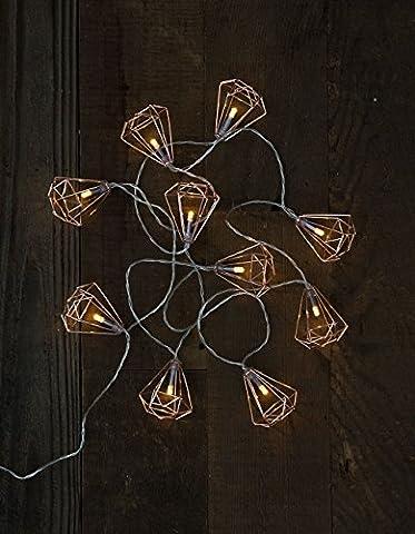 Geo Frame String Lights, Rose - Frame One Light
