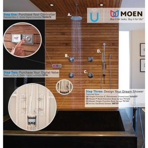 Moen S3102 U by Moen Digital Thermostatic Shower 2 Port Valve with 1 ...