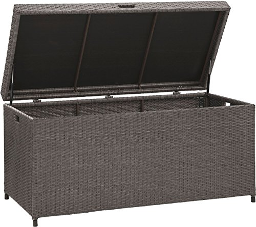 Crosley Furniture Palm Harbor Outdoor Wicker Storage Bin – Grey