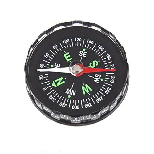 GrandSiri 1 Set Black Oil Filled Compass Keychain Survival Emergency Life Tactical Culmination Popular Outdoor Hiking Waterproof Protractor Whistle Knife Backpack Geometry Map Guide Tools Kits by GrandSiri