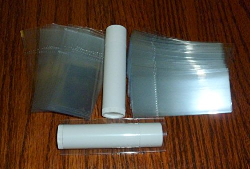 250 Clear Shrink Wrap Bands Sleeves for Lip Balm (Chapstick) Tubes Tamper Evident Safety Seal by EMPTY LIP BALM TUBES (Image #1)