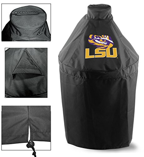 Holland Covers GC-K-LaStUn Officially Licensed Louisiana State University Kamado Style Grill Cover ()