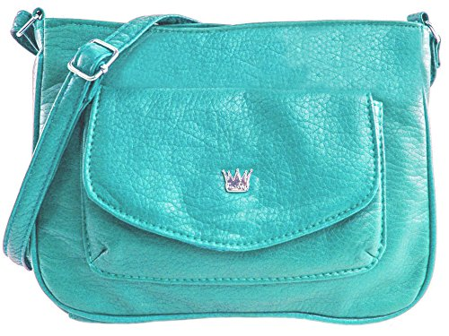 - Purse King Tulip Cross Body Bag (Turquoise)