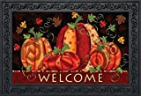 "Briarwood Lane Fall Festival Pumpkins Doormat Welcome Primitive Indoor Outdoor 18"" x 30"""