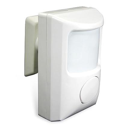 HC de Comercio 936043 Detector de movimiento con infrarrojos alarma 85 – 90db Blanco para un