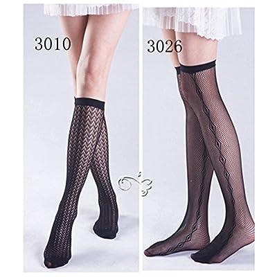 Toptim Womens Knee High Fishnet Patterned Trouser Socks Dress Socks at Women's Clothing store