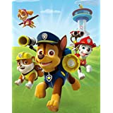 """Edge Home Products Paw Patrol Dogs Field 12"""" X 16"""" Portrait canvas with LED, White"""