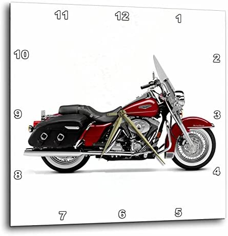 3dRose DPP_ 4487_3 Harley-Davidson Motorcycle Picture Wall Clock