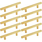 gold cabinets handles and drawer pulls brushed brass t bar cabinets pulls 10 pack 3inch 76mm hole centers homdiy hd201pb gold cupboard pulls knobs