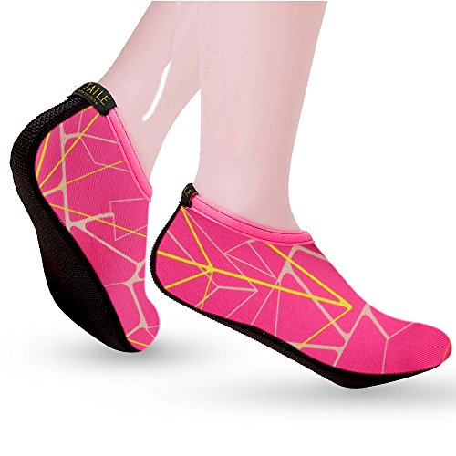 Swimming Unisex Aqua Surf Water Shoes Yoga SITAILE Adults Kids Barefoot Beach Skin Red1 Rose Shoes Socks Shoes Rx1OgF1qw