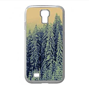 Snowy Fir Trees Forest Watercolor style Cover Samsung Galaxy S4 I9500 Case (Winter Watercolor style Cover Samsung Galaxy S4 I9500 Case)