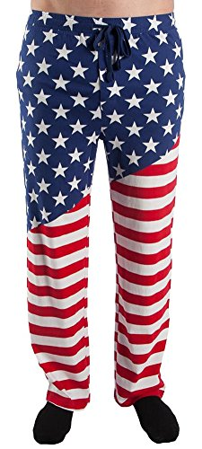 Bioworld USA American Flag Adult Lounge Pajama Pants (Medium)