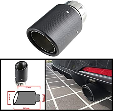 Universal 63mm Stainless Steel Car SUV Exhaust Pipe Tail Muffler Tip Car Styling