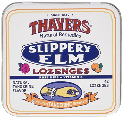 Thayers Natural Remedies Slippery Elm Tangerine 42 Lozenge