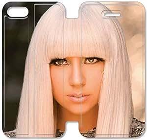 Lady Gaga B4V04G3 iPhone 5C caso del tirón del cuero funda A3D76W3 único caso funda de teléfono para las mujeres