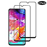 Screen Protector for Samsung Galaxy A70 (2-Pack)  [Anti-Scratch][Case Friendly] 9H Hardness 3D Full Coverage Tempered Glass Compatible for Samsung Galaxy A70 (Black)