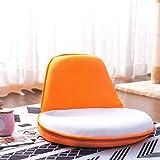 Harper&Bright designs WF037241 Portable Floor Sofa Kids Folding Chair, White/Orange