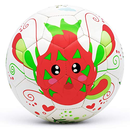 (picador Soccer Ball, Cute Cartoon Design Toy Gift Kids Soccer Ball Size 3 for Kids, Children's Day, Girls, Boys, Teens, Student, Kindergarten, Shipped Deflated (Pitaya))
