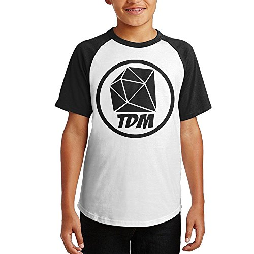 Short Sleeve Logo Raglan T-shirt - Kodggkh The Diamond Minecart TDM Logo Teenagers Cotton Raglan Short Sleeve T Shirt