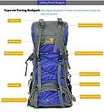 60L Internal Frame Hiking Backpack with Rain