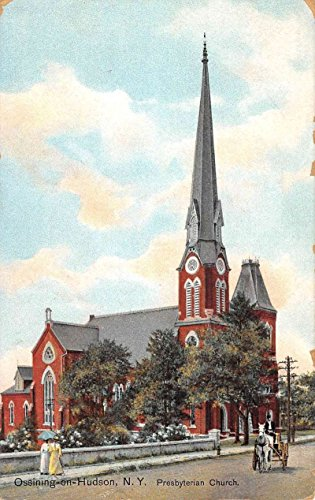 Ossining On Hudson New York Presbyterian Church Antique Postcard K82057