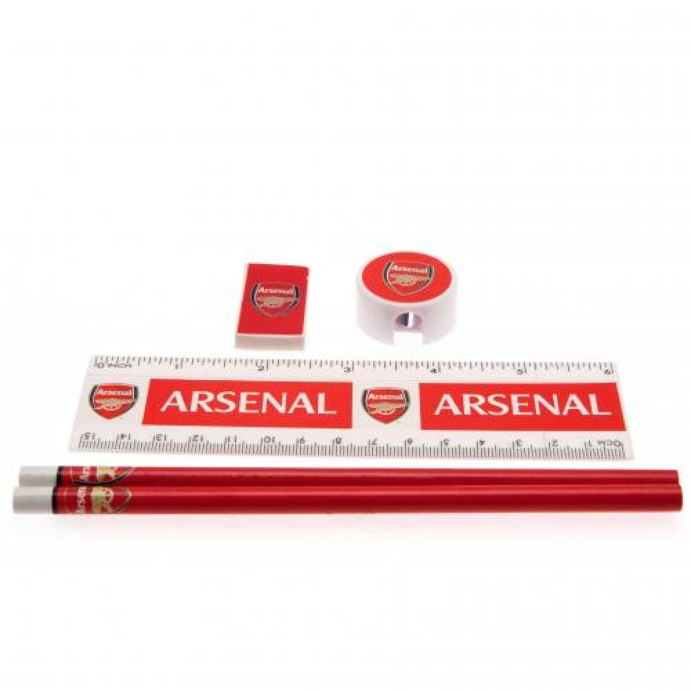 Arsenal FC Official Football Gift Core Stationery Set - A Great Christmas / Birthday Gift Idea For Men And Boys