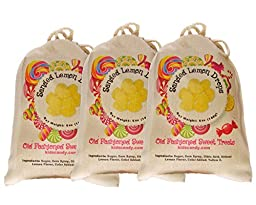 Claey\'s Sanded Lemon Drops Old Fashioned Cloth Bag 3 - 6 Ounce Bags