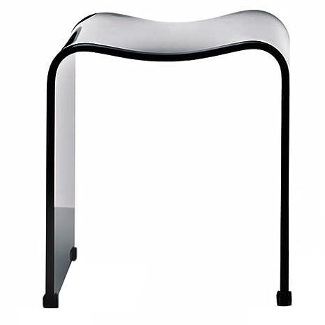 Miraculous Decor Walther 0506850 Dw 80 Acrylic Bath Stool Black Customarchery Wood Chair Design Ideas Customarcherynet