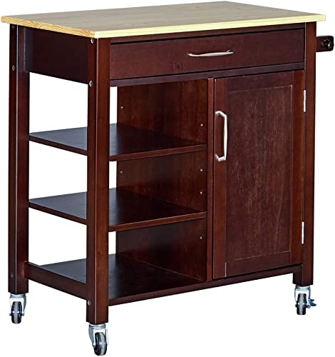 MUSEHOMEINC Utah Utility Kitchen Islands Cart