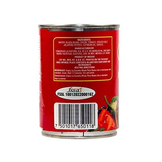 La Costena Whole Black Beans Tin, 560g