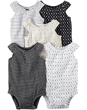 Baby Girls Multi-Pk Bodysuits