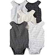 Carter's Baby Girls' Multi-PK Bodysuits 126g548, White, Newborn