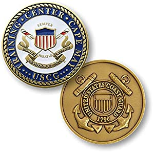 U.S. Coast Guard Training Center Cape May, NJ Challenge Coin by Armed Forces Depot