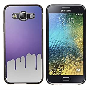 Goteo de pintura rosa- Metal de aluminio y de plástico duro Caja del teléfono - Negro - Samsung Galaxy E5 / SM-E500