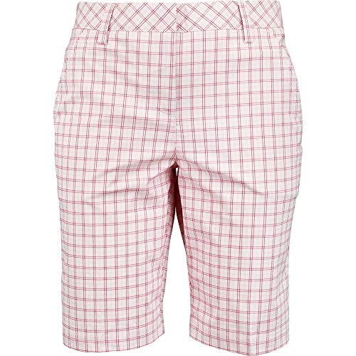 PUMA Golf Women's Plaid US Bermuda, Pink Dogwood, Size 6 ()