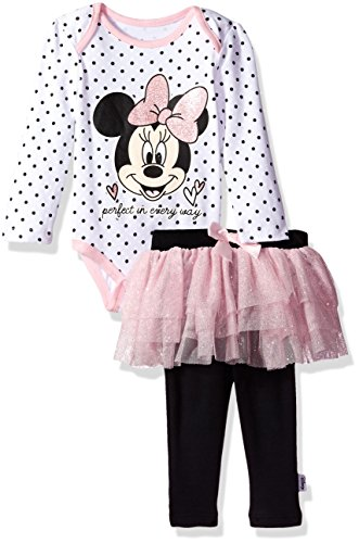 Disney Baby Girls' Minnie Mouse 2 Piece Skegging and Bodysuit Set