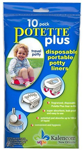 Kalencom Potette Plus On the Go Potty 10 Pack Liner Re-Fills PACK OF 2 (Liner Potty Refills)