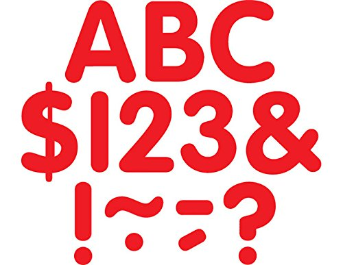 Teacher Created Resources Red Classic 2-Inch Letters Uppercase Pack (5562)