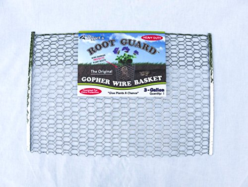 12 QTY Digger's RootGuardTM 3-Gallon Heavy Duty Gopher Wire Baskets - Bulb Basket