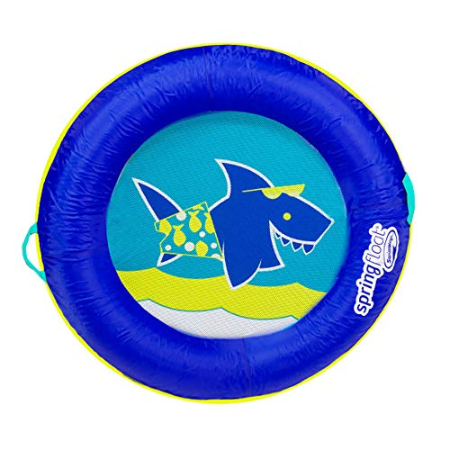 Summer Waves SwimWays Springfloat Kids Boat Round Fabric Covered Swimming Pool Float, -