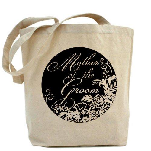 CafePress mamma dello sposo–Elegante motivo floreale, colore naturale borsa di tela, panno borsa per la spesa