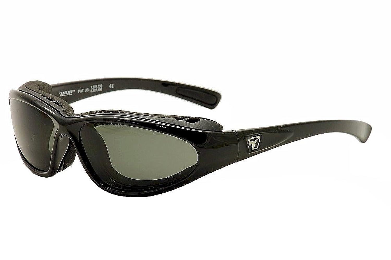 7Eye Sunglasses - Bora / Frame: Glossy Black Lens: Sharpview Polarized Grey