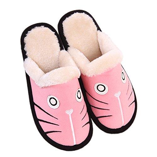 Miyang Winter Schattige Kat En Hond Warme Huis Slofjes Booties Roze